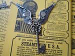 Steampunk winged key