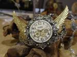 Steampunk winged bracelet