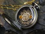 Steampunk golden locket