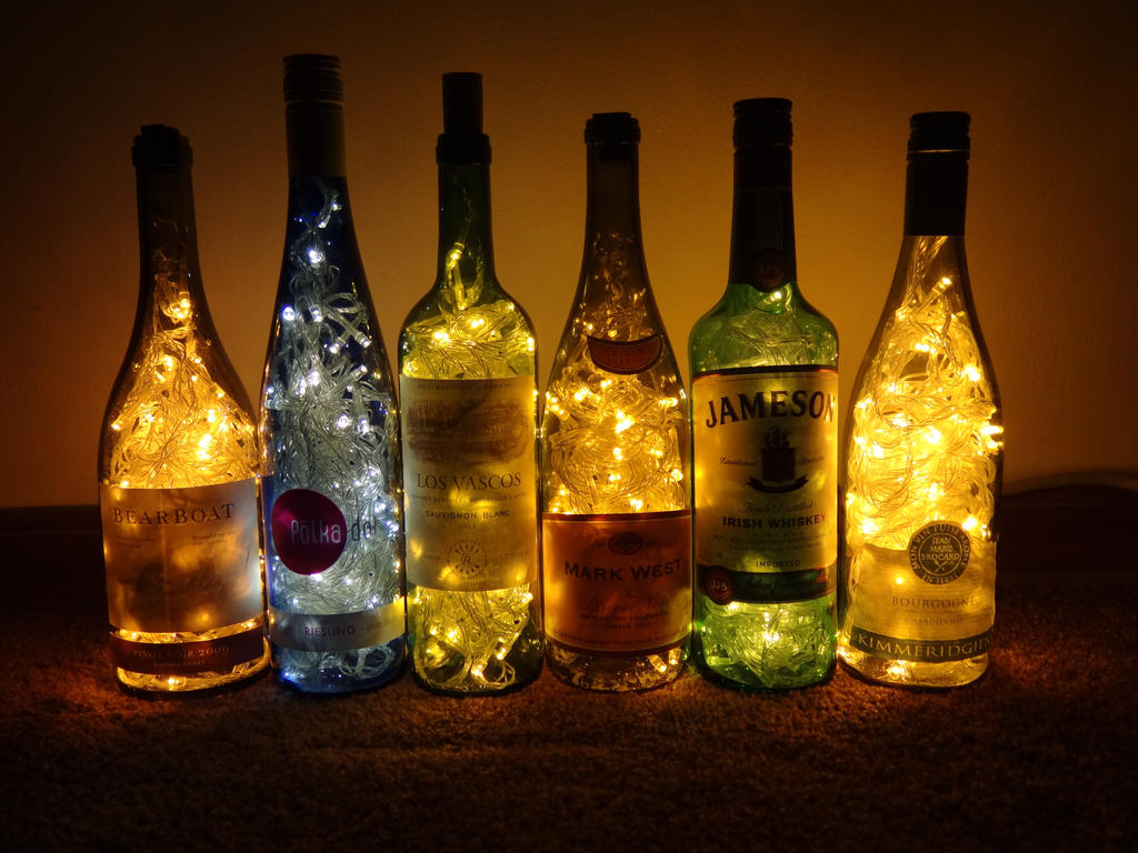 wine bottle lights by hiddendemon 666