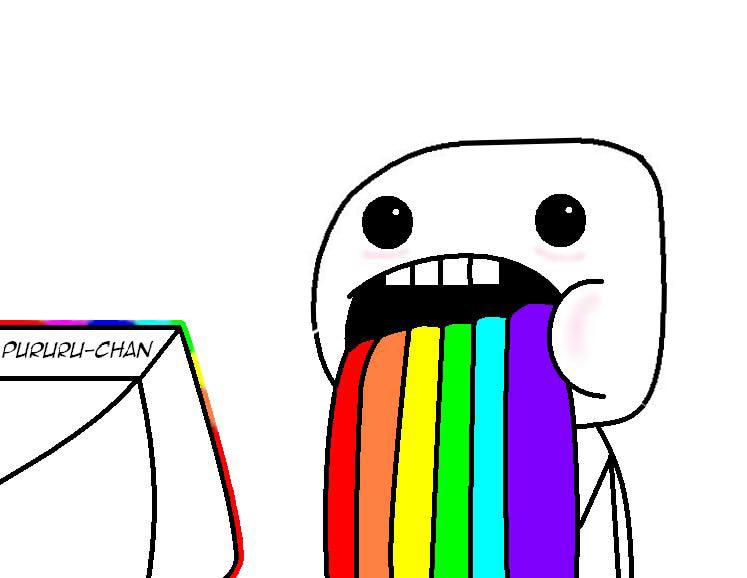 Rainbow Vomit Meme by ...