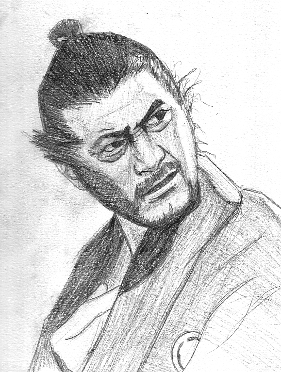 Toshiro Mifune as Sanjuro by ricey