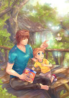 SS - Bear and Little Boy by penguin-pinpin