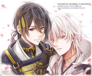 Tourabu - Moon and Crane by penguin-pinpin