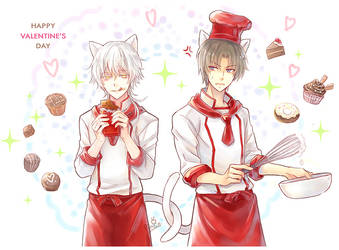 Tourabu - Cats and Chocolates by penguin-pinpin