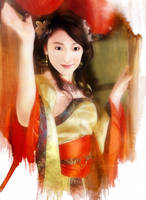 girl in chinese costume by Dr3amtracerCc