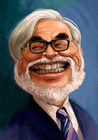 H miyazaki's color caricature by Dr3amtracerCc