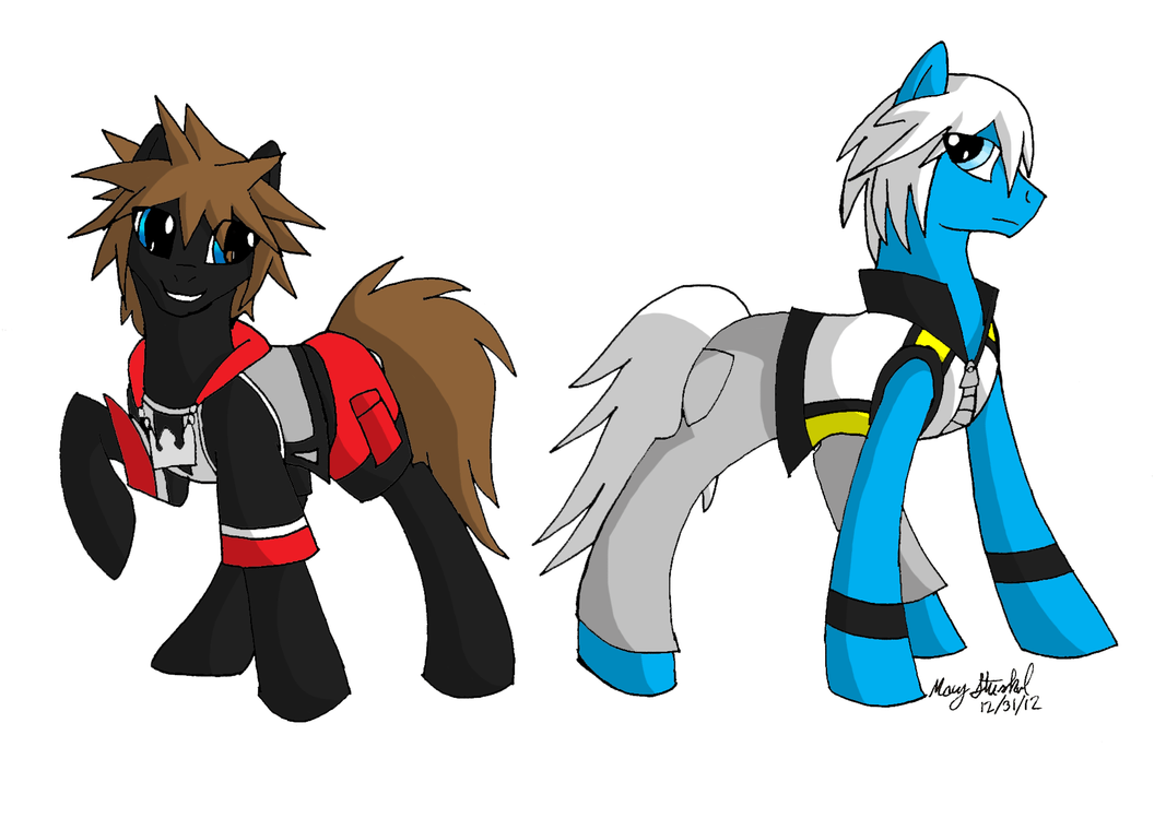 Sora Kingdom Hearts Lineart : Mlp fim kingdom hearts d sora and riku by wuffy cerulei on