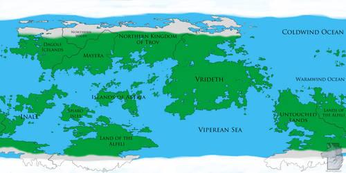Arvum World Map by Wuffy-Cerulei
