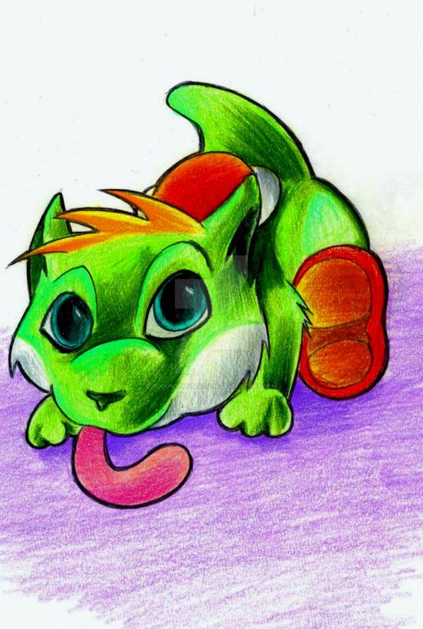 Yoshi-kitty by Gloomy-mushroom