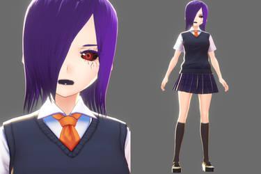 Tokyo Ghoul - Touka Kirishima v0.2 (WIP) by RedEyedRocker