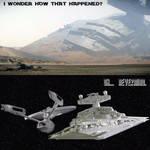 USS Enterprise vs Imperial star destroyer