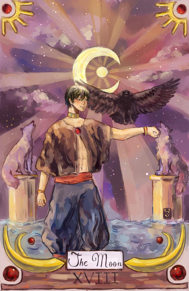Tarot Card- The Moon by kumosagi