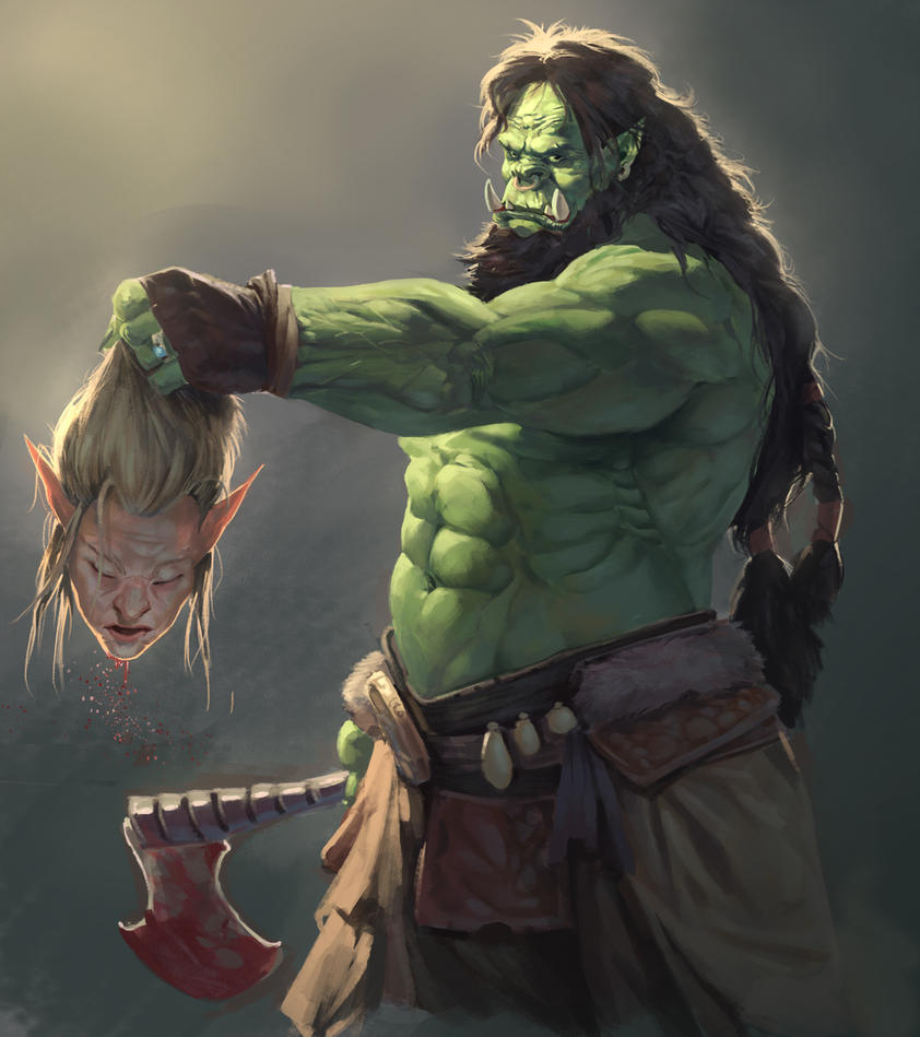orc sketch by caninebrush on deviantart