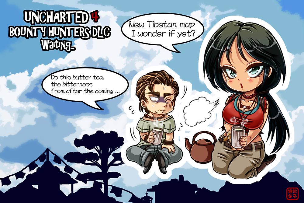 UNCHARTED 4 BOUNTY HUNTERS DLC Waiting... by NasubiNeko