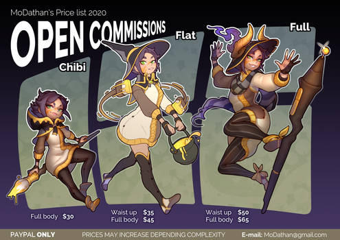 Open Commissions 2020