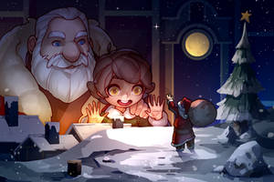 Amazement at christmas