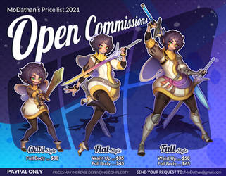 Open Commissions 2021