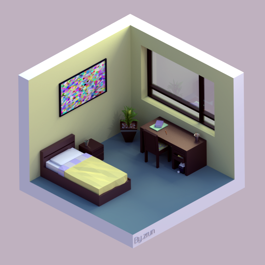 Isometric room by Zrun