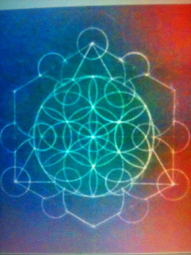 Flower of Life Variation with Tetractys by VirulentVolition