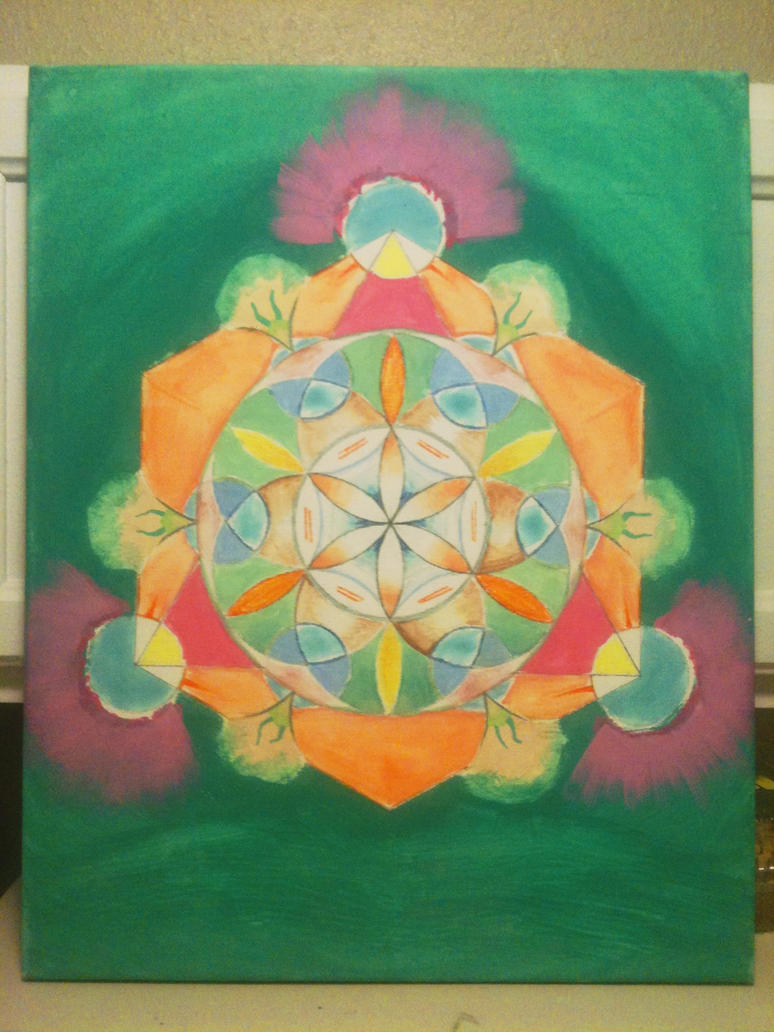 Flower of Life Variation with Tetractys (final) by VirulentVolition