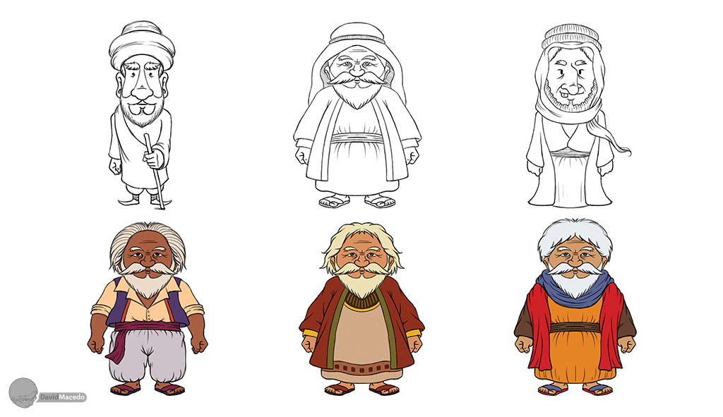 Cartoon Characters Old Man : Character design wise old man phase by davidmacedo on