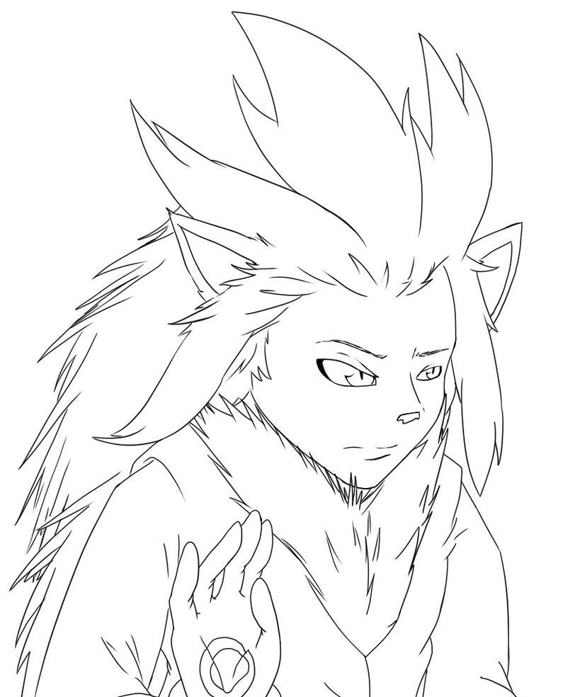 Line Art Human : Human silver the headgehog free line art by