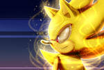 Super-Sonic The Hedgehog.