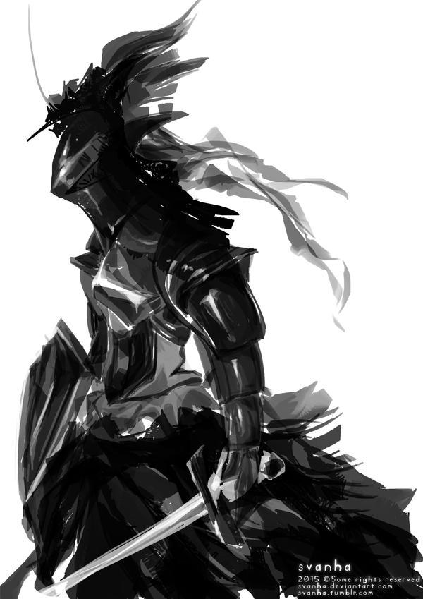Female knight by svanha