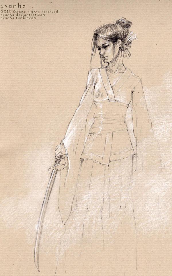 Female ronin by svanha