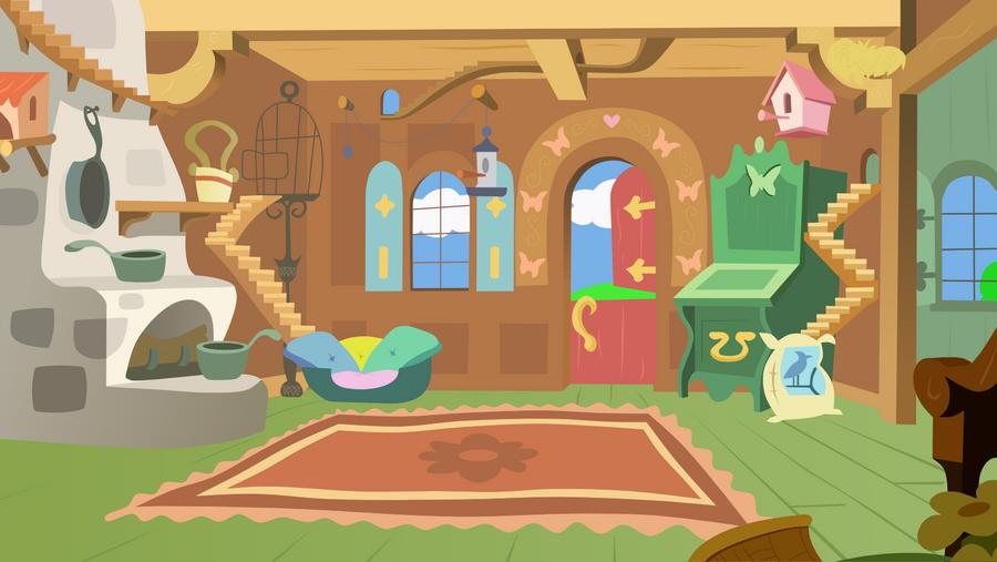 Fluttershy's Living Room by Sazlo on DeviantArt