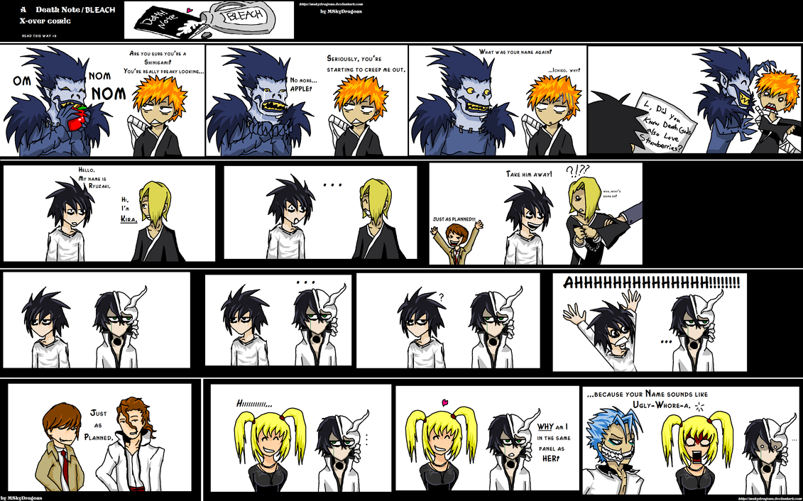 Death Note + Bleach CrackComic by MSkyDragons