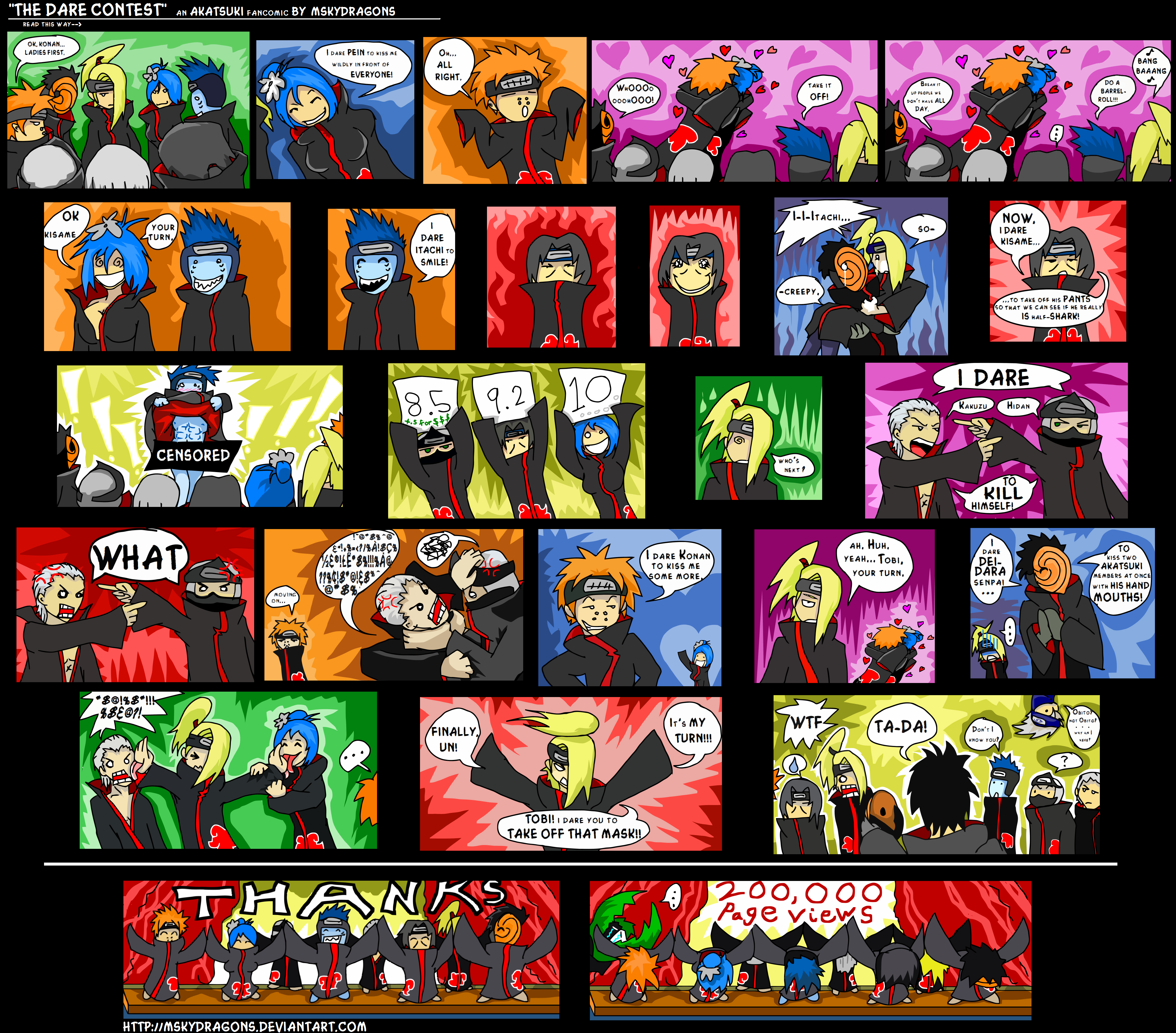 Akatsuki Funny Pic! (You may also post your akatsuki funny pics here!) AKATSUKI_COMIC___THANKS_200K__by_MSkyDragons
