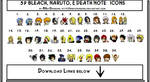 ICONS NARUTO BLEACH DEATH NOTE by MSkyDragons