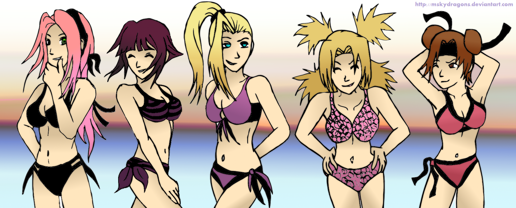 Naruto Girls   300K request 1 by MSkyDragons Naruto Girls   300K request for *IM SteelAngel who wanted Sakura, Hinata, ...