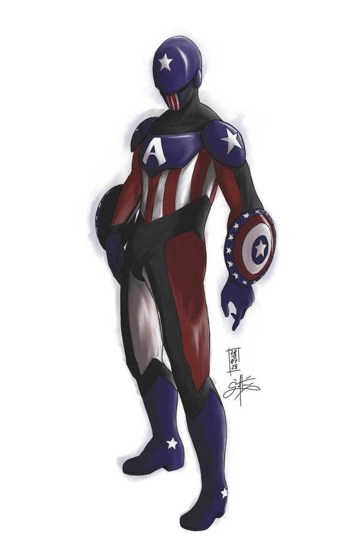 Captain America : Diving Suit by ShadedAreasArt