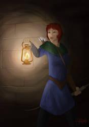 Alissa in the dark by BHDH