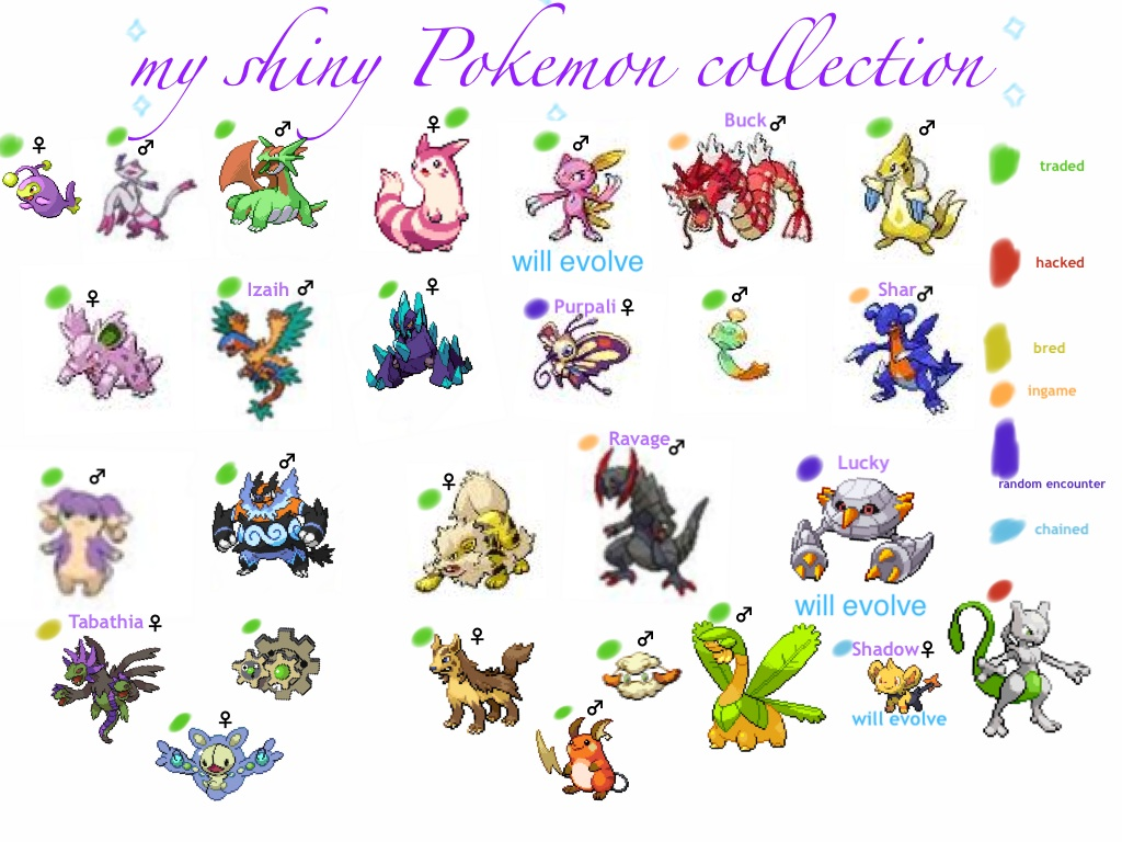 Gallery images and information pokemon shiny pokemon list