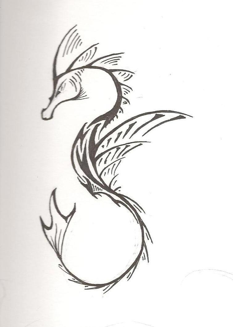 sea horse design 1 by silverphoenix on deviantart