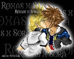 Sora XRoxas Wallpaper by PiccoGirl
