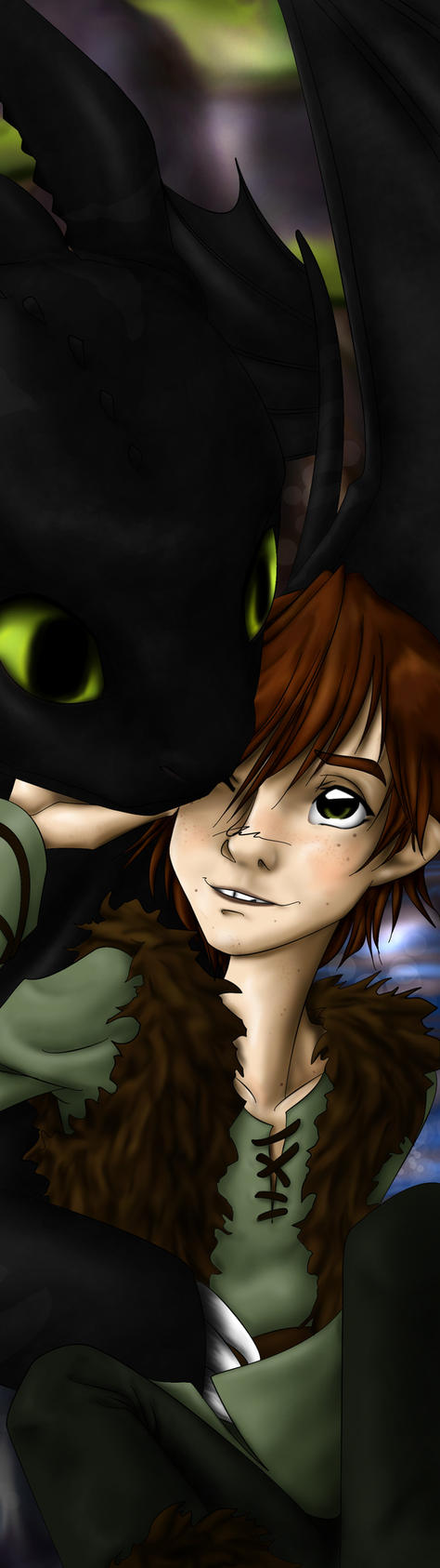 Bookmark Dragontrainer - Hiccup/Toothless - HttyD by PiccoGirl