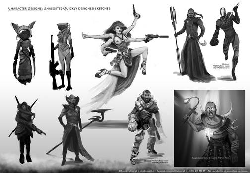 Collection of Character Concept Designs