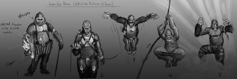 Gorilla Boss - 5 idea line ups, very basic.