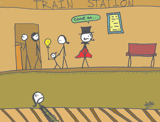 Waiting for the Train by Nimril