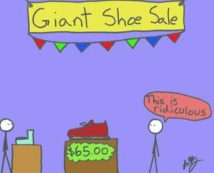Giant Shoe Sale by Nimril