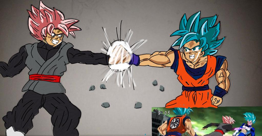 Goku vs Black by Son90Chris