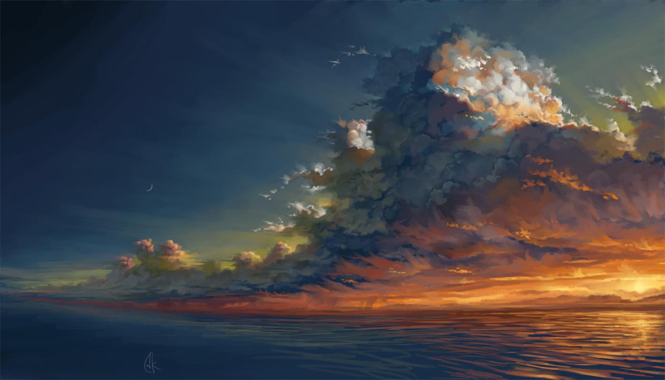 Sunset... by Matariil