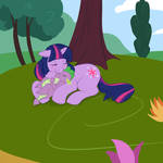 Twilight and Spike Nap time