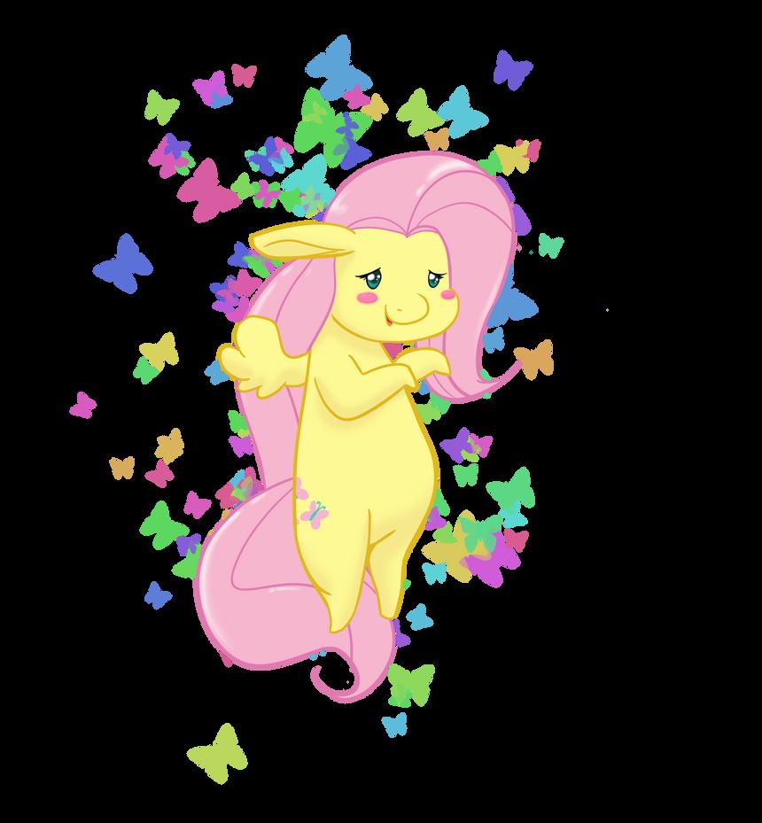 Chibi Fluttershy by fluffikitten on deviantART