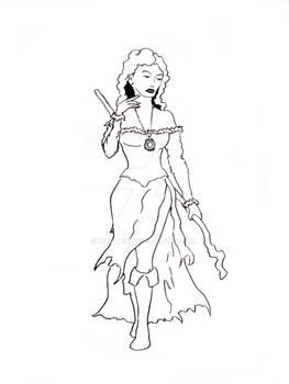 Sorceress Line Art